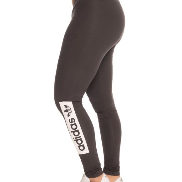 Adidas Pants Jumpsuits Tightsleggings Dark Gray Nwt Poshmark